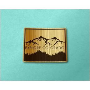 Colorado Wood Decal