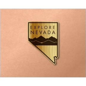 Nevada Wood Decal