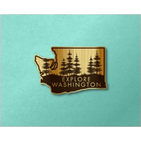 Washington Wood Decal