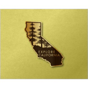 California Wood Decal