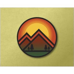 "Sunset Mountain 3.6"" Circle..."