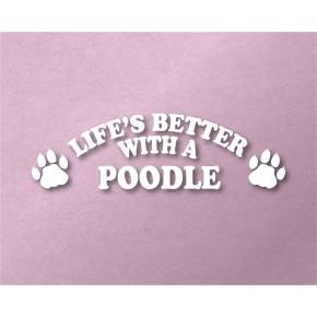 Poodle Pet Vinyl Transfer