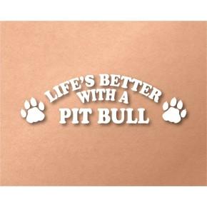 Pit Bull Pet Vinyl Transfer