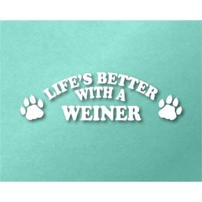 Weiner Pet Vinyl Transfer