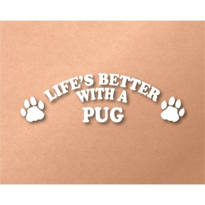 Pug Pet Vinyl Transfer