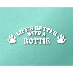 Rottie Pet Vinyl Transfer