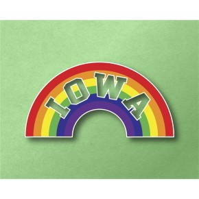 Iowa Rainbow Vinyl Transfer