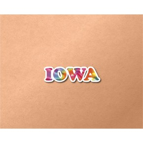 Iowa Chrome Tie Dye Strip