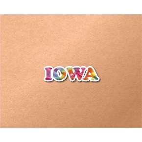 Iowa Chrome Tie Dye Strip