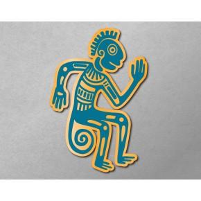 Aztec-Inca Totem: Monkey