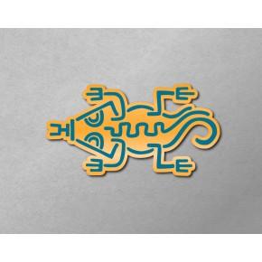 Aztec-Inca Totem: Iguana