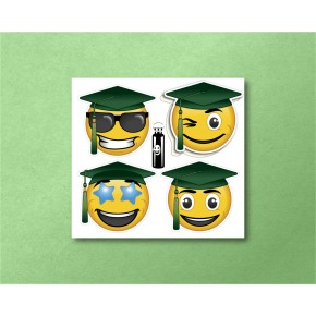 Emojis Mini 4/pk: Graduation