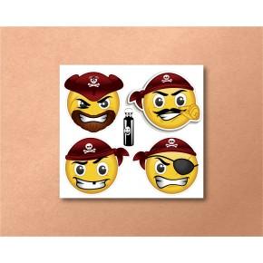 Emojis Mini 4/pk: Pirates