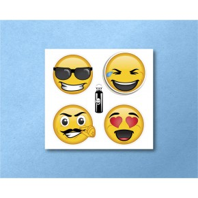 Emojis Circles 4/pk:...